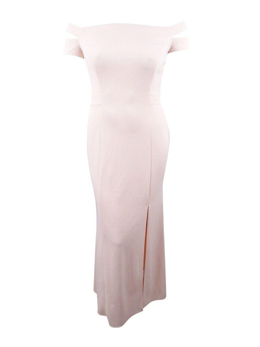 Lauren by Ralph Lauren Women's Off-The-Shoulder Crepe Gown (12, Belle pink)