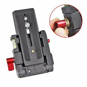 Quick Release Clamp Adapter QR Plate Base for Manfrotto 500 500AH 701HDV 577