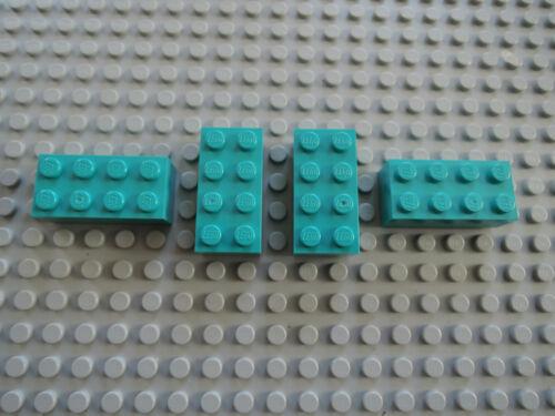 LEGO 10 x Stein 3001 dunkel türkis tael   2x4