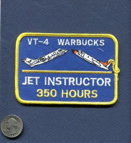 VT-4 WARBUCKS T-39 SABERLINER T-1 JAYHAWK 350 HOURS US NAVY USAF Squadron Patch