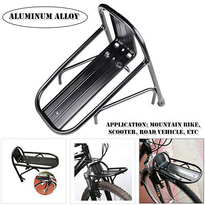 Mountain Bike Front Fork Rack Mount Storage Holder Bicycle Luggage Carrier Shelf