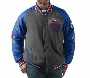 3e241aa8683 New York Giants Jacket Men's Power Hitter Full-Snap Varsity G-III ...