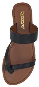 e3d9722ac9d28 Soda Shoe Women Flip Flop Flat Summer Basic Sandals Thongs Black ...