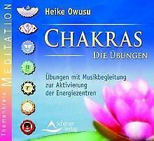 Chakras-Audio-CDs-Die-Ubungen-1-Audio-CD-Ubungen-mit-Buch-Zustand-gut
