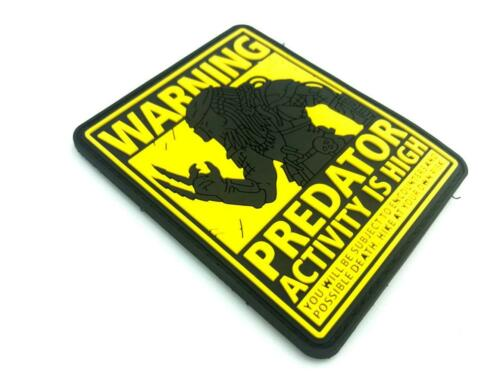 Predator Activity is High Airsoft Paintball PVC Morale Cosplay Patch