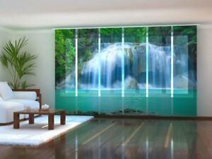 Fotogardine Wasserfall Schiebegardine Schiebevorhang mit Foto auf Maß