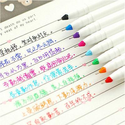 8x Korean Watercolor Pen Gel Pens Set Colors Kandelia Cute Little Stationery New