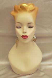 Mannequin-Head-Bust-Vintage-Wig-Hat-Jewelry-Display-Y4G