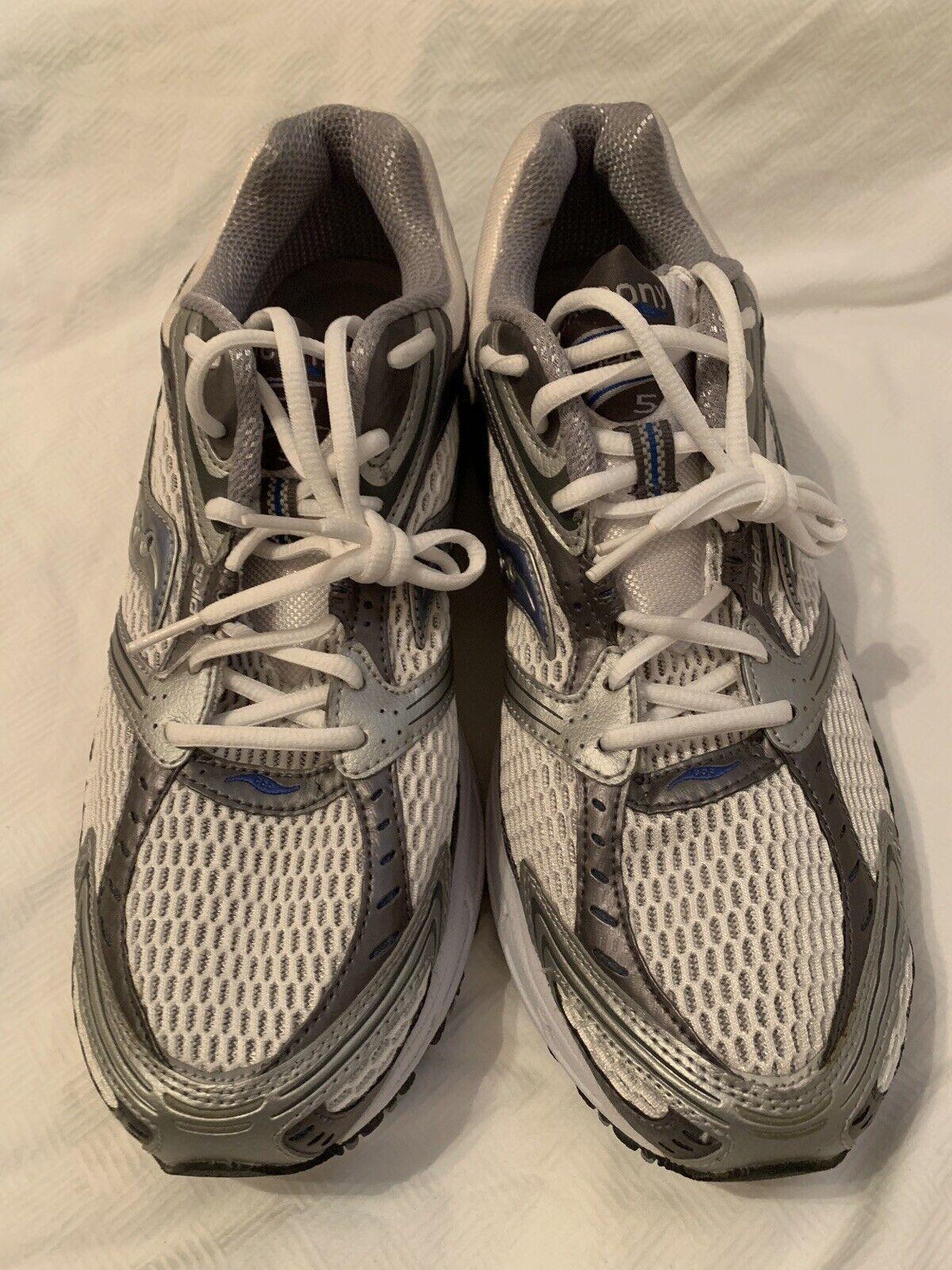 Saucony 2950-2 W Trigon5 Running shoes White Silver bluee Men's 12 UK 11 EUR 46.5