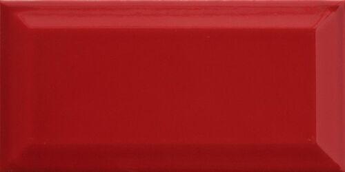 MUSTER der Wandfliese Metro Fliesen rot glossy glänzend 10x20cm