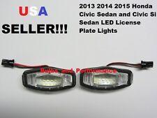 2013 2014 2015 Honda Civic Si Sedan White LED License Plate Light Lamp 6000K NEW
