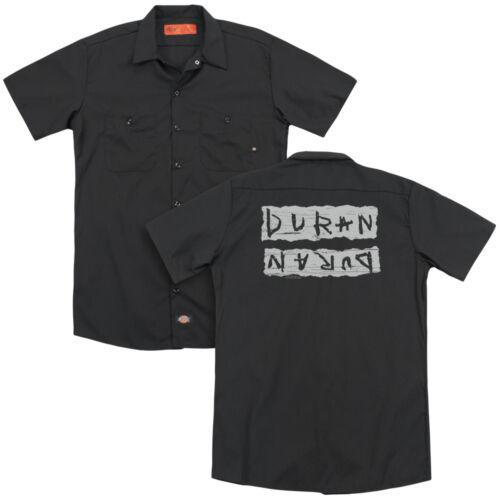 Duran Duran Band PRINT ERROR Logo Licensed Adult Dickies Work Shirt All Sizes