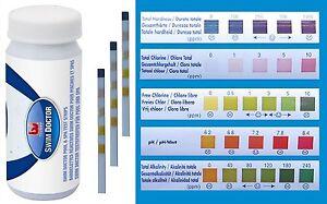 Flowclear 5 1 Pool Spa Hot Tub Water Test Strips Chlorine Ph Hardness Alkalinity 821808582471 Ebay