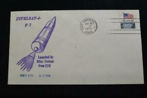 Space-Cover-1973-Macchina-Cancel-INTELSAT-4-F-7-Global-Comsat-Launch-6907