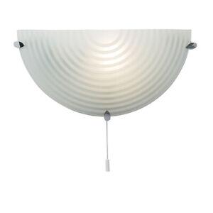 Belle Saxby Cocarde 1lt Wall Light Givré Clair Galss Del Montage Indoor Semi Circle-afficher Le Titre D'origine