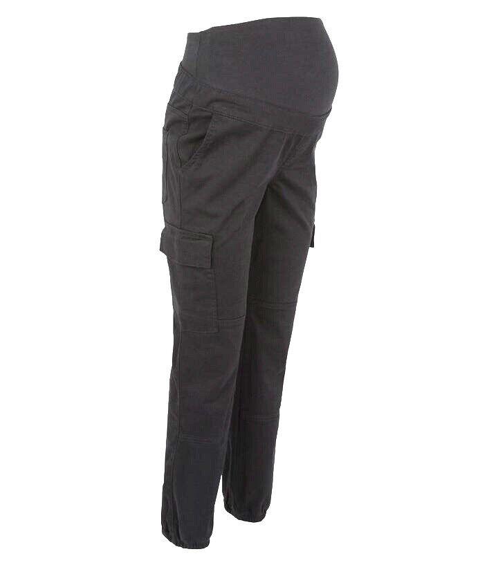 Sensible Maternité Sur La Bosse Travail Cargo Manutention Manuelle Utilitaire Pantalon Noir Uk 10