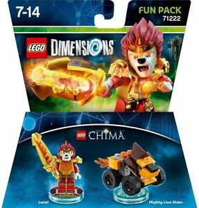 LEGO-DIMENSIONS-The-Movie-Fun-Pack-Legends-of-Chima-Laval-71222-Lion-Rider-57pcs