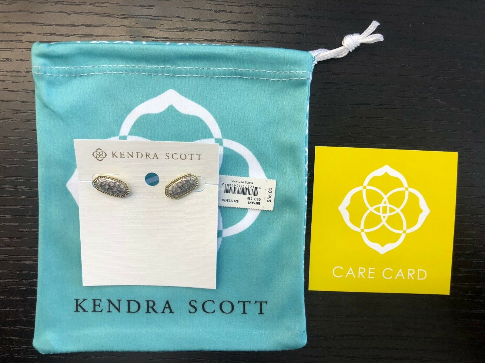 BRAND NEW W TAGS AUTHENTIC KENDRA SCOTT BRYANT EARRINGS GLD 030