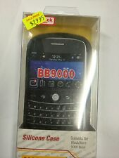 BlackBerry 9000 Bold Fitted Silicone Case Cover in Black Brand New Original Pack