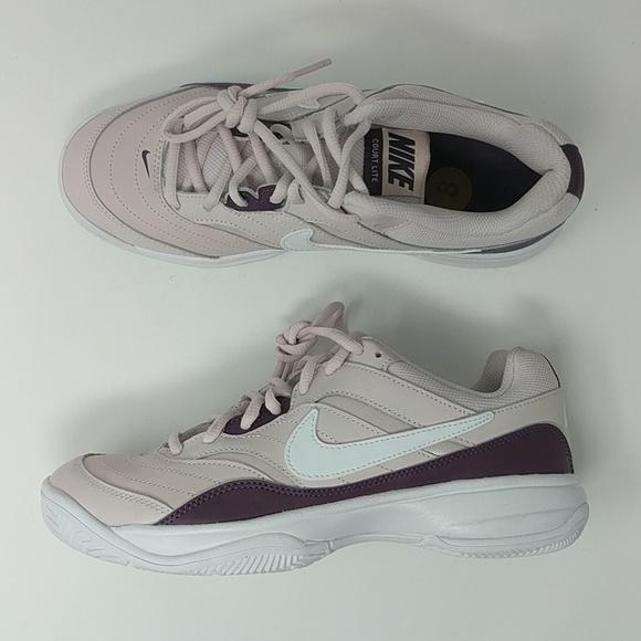 NIKE COURT LITE Womens Purple Tennis Trainers 845048 651 NEW