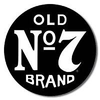 1 X Jack Daniels Old 7 11.75 Dia. Metal Tin Sign, New, Free Shipping