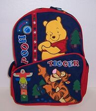 "Disney WINNIE the POOH & TIGGER Deluxe Large 16"" BACKPACK Travel Tote BAG NEW!!"