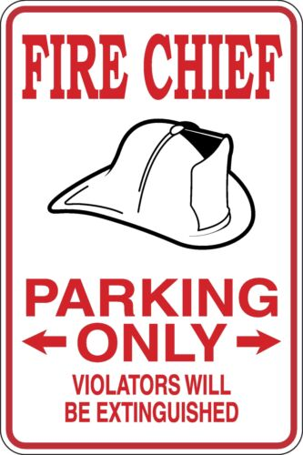 Fire Chief Parking Only Funny Novelty Stickers JDM Euro Sma SM1-299