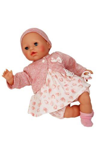45875 Bambole VESTITI 4 Pezzi Set rosa per 45 CM BAMBOLE MODELLO Amy Schildkröt N