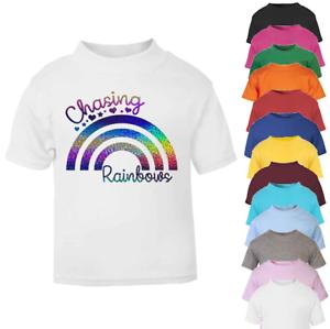 Chasing Rainbows  Kids T-shirt Princess Top Girl T-shirts Magical Girls T-shirt