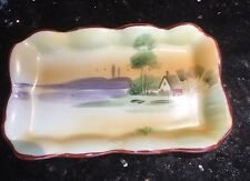 Nippon Pin Dish Or Trinket Tray - Hand Painted - Landscape Scene