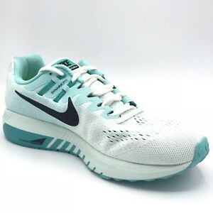 buy online 28b47 a8b44 Image is loading Nike-Air-Zoom-Structure-20-White-Green-Women-