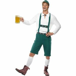 Oktoberfest Bavarian Lederhosen German Beer Adults Mens Fancy Dress Costume