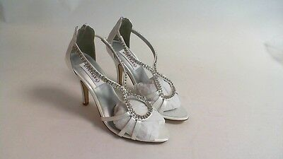 Nuevos Zapatos de boda Dyeables-Blanco Satinado Josie-US 11 B UK 9 #21E300