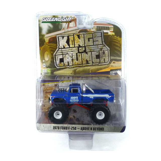 """Greenlight 49040-C Ford F-250 """" Above N beyond """" Blue - Kings Of Crunch 1:64 New"""