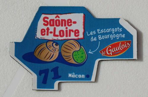 MAGNET GAULOIS 71 SAÔNE ET LOIRE CARTE NEW COLLECTION DEPARTAIMANT NEUF