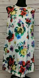 Love-Moschino-Vestito-Dress-Pixel-Spell-Out-Size-8-Floral