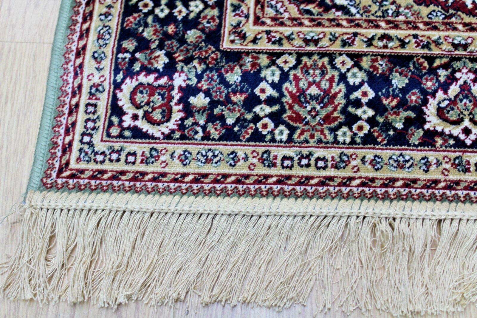 Traditionnel Persan Oriental machine Design Soie comme lavable en machine Oriental Vert TAPIS NW 20% - 9df47b