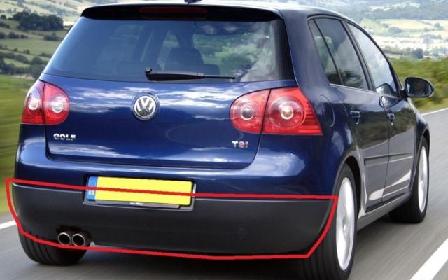 Neu Original Volkswagen Golf Mk5 Hinten Unten Stoßstangenfänger Schweller
