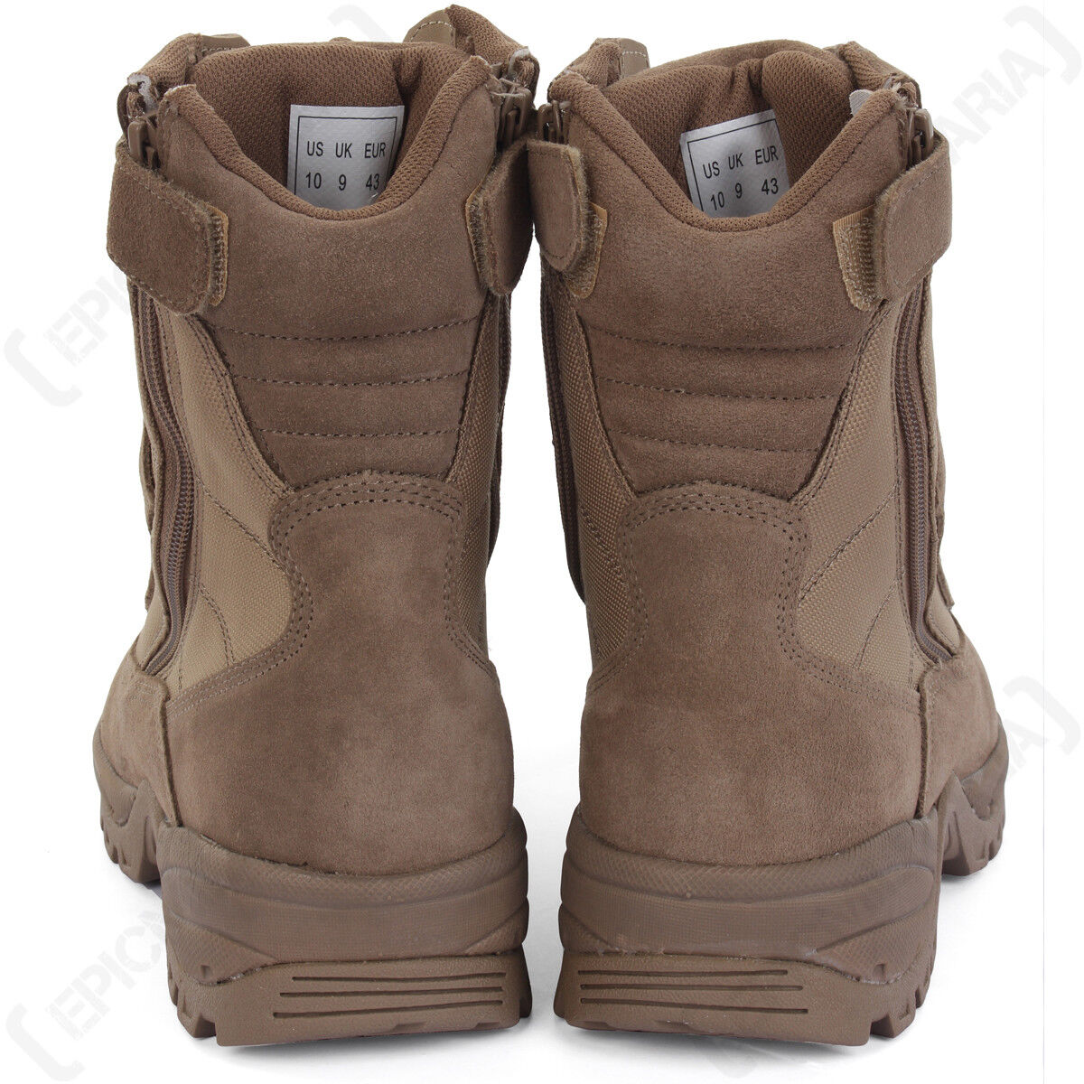 Coyote Tactical Army Army Army Stiefel - 2 Zips - Tan Military Outdoors Schuhes All Größes New 586e05
