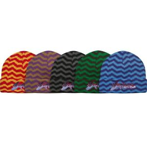 2a5930200a7 SUPREME Zig Zag Stripe Beanie Black Blue Red box logo camp cap tnf F ...