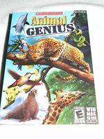 Scholastic Animal Genius Game - Pc, Mac Factory Sealed Rated E -fun,educational