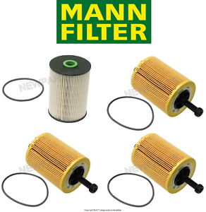 Details about For VW Golf Jetta 1x Fuel Filter & 3x Oil Filter Kit MANN  PU936/1X/HU719/7X
