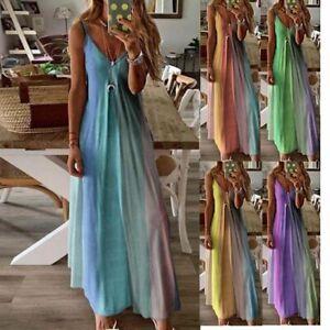 Women-Boho-Long-Maxi-Dress-Ladies-Cocktail-Party-Evening-Summer-Beach-Sundress