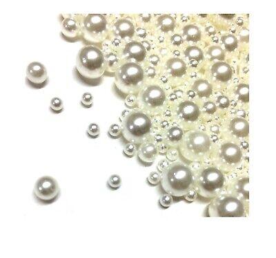 3 Stränge Gefrostete Glasperlen WEIß KUGELN 4 6 8 mm Matt Perle R98