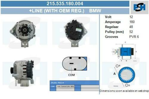 Alternador 215.535.180.004 con original valeo regulador BMW BMW