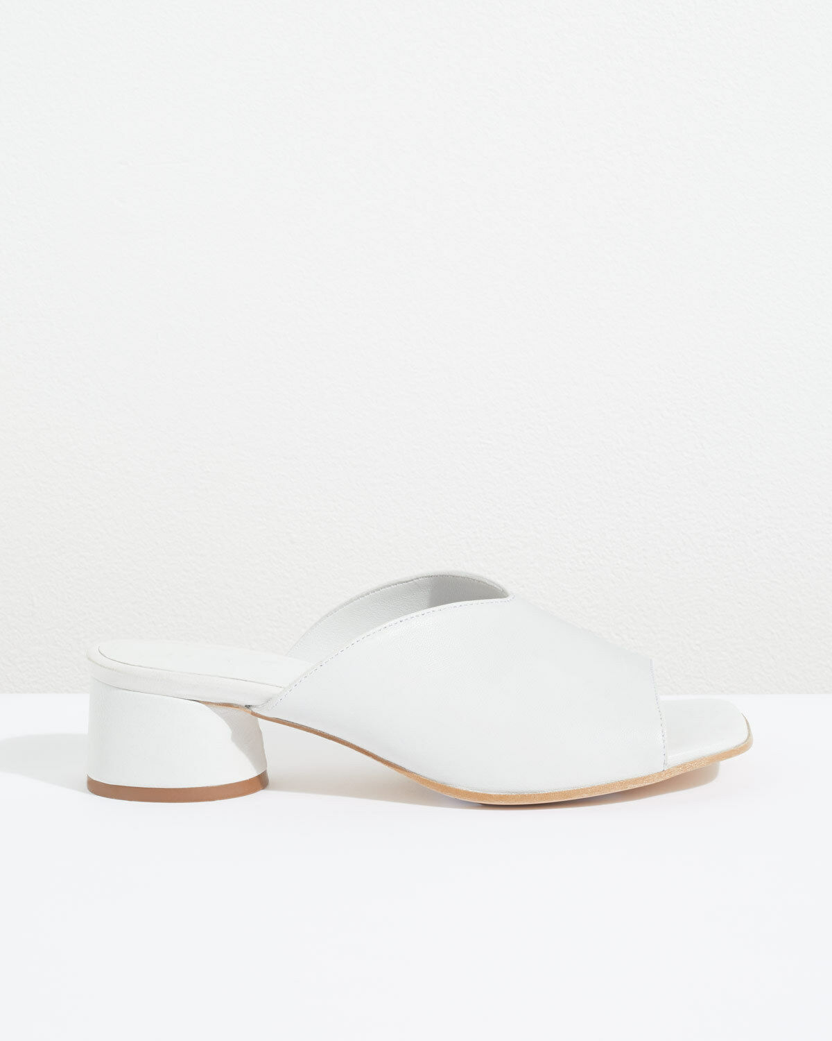 Jigsaw Sillon Square Toe Mules Womens New White Chalk