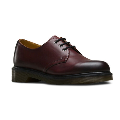 Dr Martens 1461 Cherry red antique temperley 3-trou Chaussures Noir rouge Docs