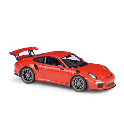 WELLY 2016 PORSCHE 911 GT3 RS WHITE 1:24 DIE CAST METAL MODEL NEW IN BOX 18cm