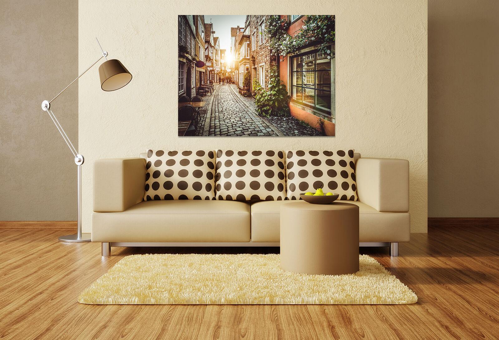 3D Stream City 64 Wall Stickers Vinyl Murals Wall Print Decal AJSTORE UK Lemon