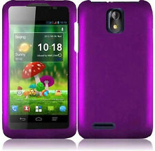 For Cricket ZTE Engage LT N8000 Rubberized HARD Protector Phone Case Purple